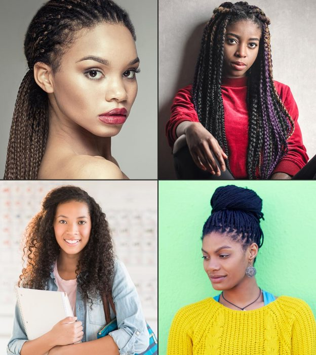 15 Cute Hairstyles For Black Teenage Girls Regarding Current Tight Black Swirling Under Braid Hairstyles (View 17 of 25)