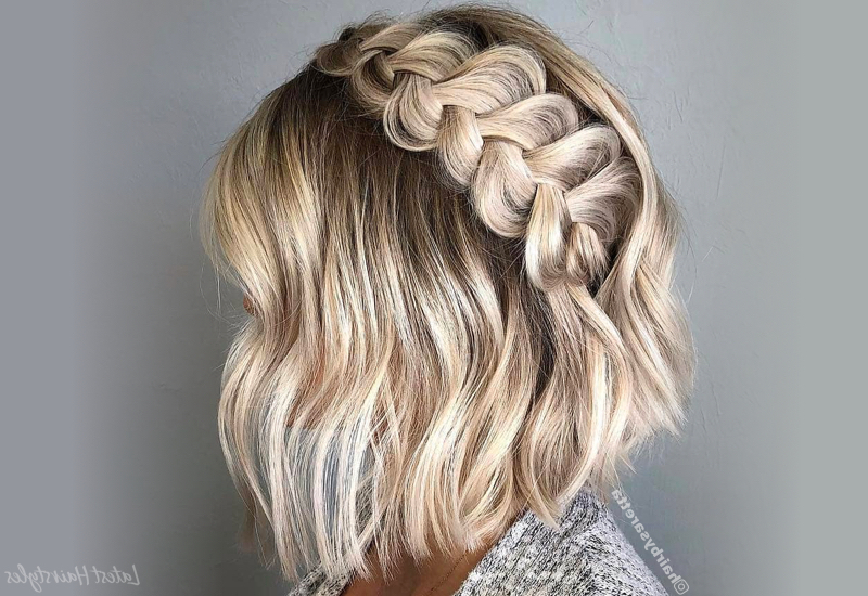 15 Easiest Braids For Short Hair In 2019 Regarding Current Faux Halo Braided Hairstyles For Short Hair (View 4 of 25)