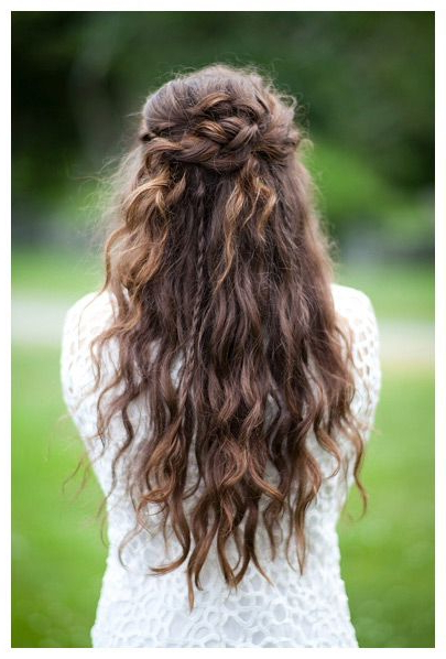 15 Fabulous Half Up Half Down Wedding Hairstyles | |Hair Regarding Best And Newest Half Up Half Down Boho Braided Hairstyles (View 7 of 25)