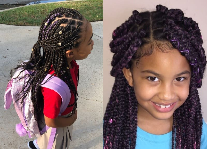 15 Lovely Box Braids Hairstyles For Little Girls To Rock Throughout Most Popular Box Braids And Beads Hairstyles (View 13 of 25)