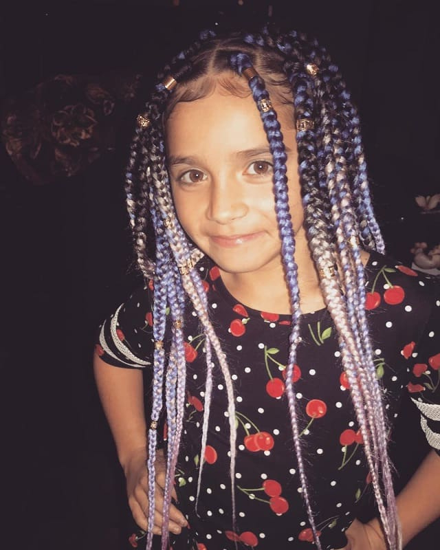 15 Lovely Box Braids Hairstyles For Little Girls To Rock Throughout Newest Box Braids And Beads Hairstyles (View 22 of 25)