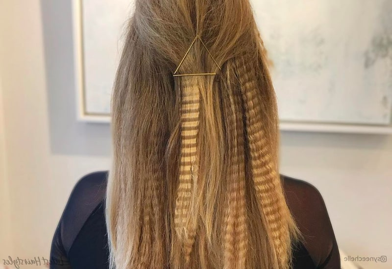 15 Modern Crimped Hair Ideas From The 80's And 90's In Best And Newest Angled Braided Hairstyles On Crimped Hair (View 6 of 25)