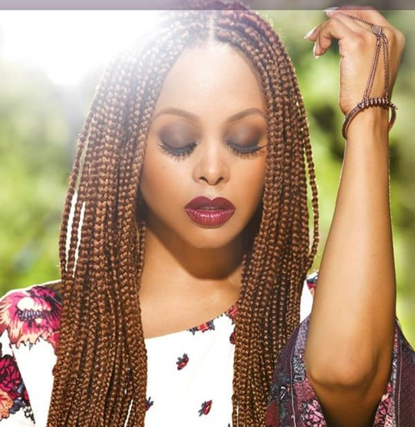 150 Chic Box Braids Styles That You Should Try For Best And Newest Golden Blonde Tiny Braid Hairstyles (View 11 of 25)