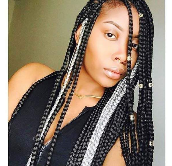 150 Chic Box Braids Styles That You Should Try Inside Most Popular Royal Braided Hairstyles With Highlights (View 12 of 25)