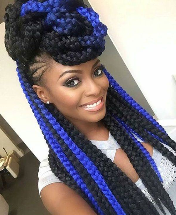 150 Chic Box Braids Styles That You Should Try Intended For Most Current Royal Braided Hairstyles With Highlights (View 6 of 25)