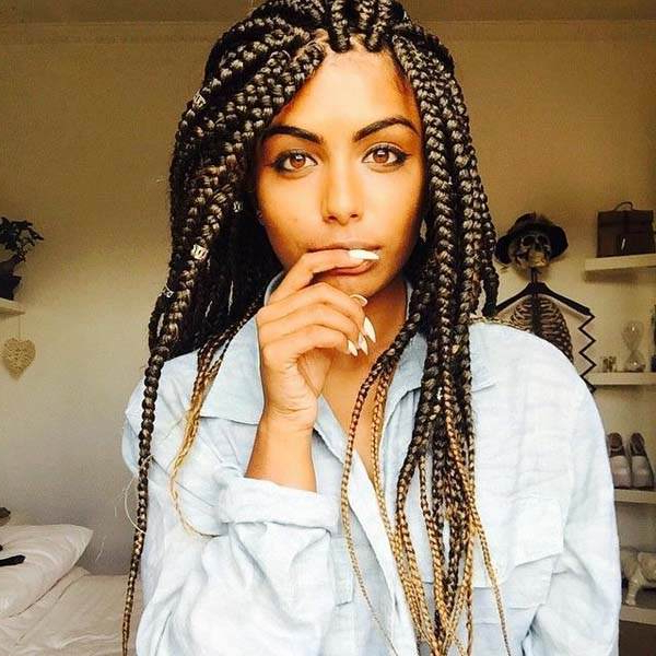150 Chic Box Braids Styles That You Should Try Pertaining To Current Royal Braided Hairstyles With Highlights (View 3 of 25)