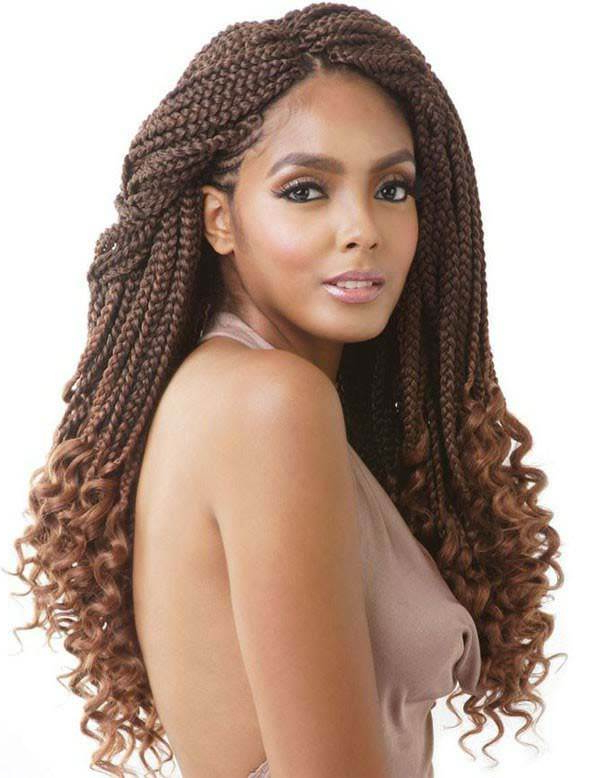 150 Chic Box Braids Styles That You Should Try Pertaining To Most Recently Half Up Box Bob Braid Hairstyles (View 25 of 25)