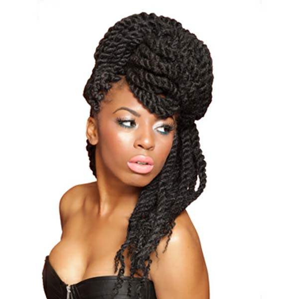 152 Twist Braids Looks With Senegalese Legacy Always On Fashion Intended For Recent Partial Updo Rope Braids With Small Twists (View 16 of 25)