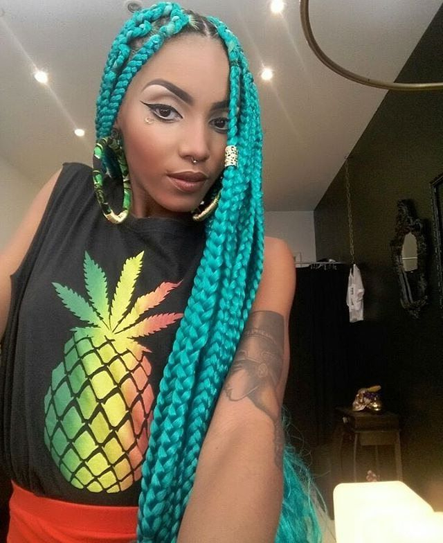 16 Colorful Box Braids To Inspire Your Next Protective Regarding 2018 Multicolored Extension Braid Hairstyles (View 25 of 25)