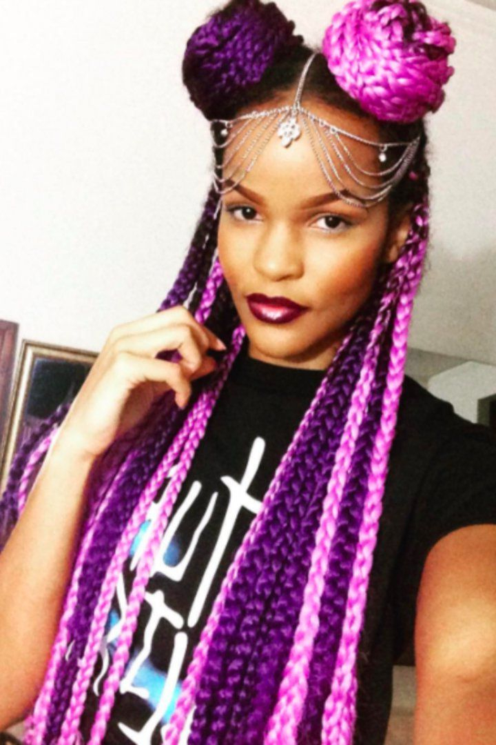 16 Colorful Box Braids To Inspire Your Next Protective Regarding Recent Multicolored Extension Braid Hairstyles (View 5 of 25)