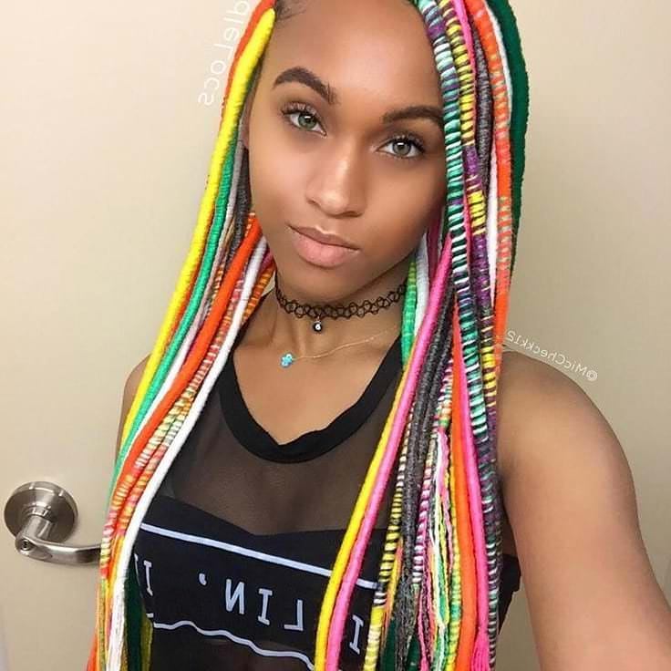 162 Banging Braid Hairstyles To Try For Most Current Long Braids With Blue And Pink Yarn (View 25 of 25)
