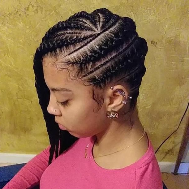 162 Banging Braid Hairstyles To Try Intended For Most Recently Wrap Around Triangular Braided Hairstyles (View 22 of 25)