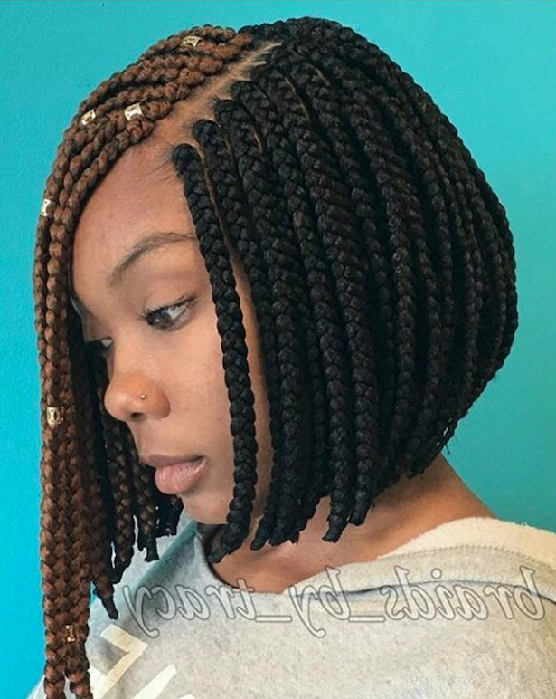 17 Beautiful Braided Bobs From Instagram You Need To Give A Try In Newest Purple Pixies Bob Braid Hairstyles (View 15 of 25)