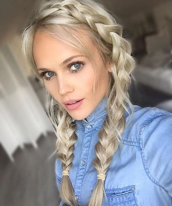17 Chic Double Braided Hairstyles You Will Love | Styles Weekly With Regard To Latest Blonde Braid Hairstyles (View 24 of 25)