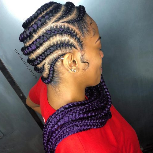 17 Greatest Ghana Braids And Hairdos For 2019 Intended For Most Recent Chunky Ghana Braid Hairstyles (View 20 of 25)