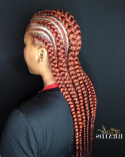 17 Greatest Ghana Braids And Hairdos For 2019 With Latest Chunky Ghana Braid Hairstyles (View 25 of 25)