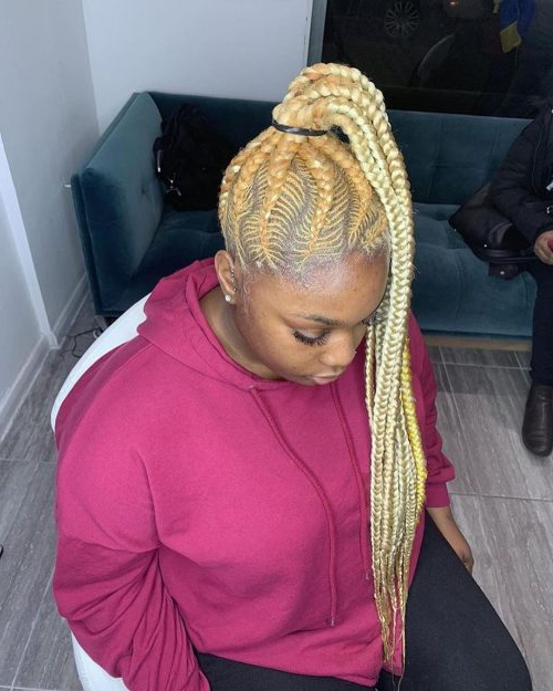 17 Hot Styles – Braided Ponytail For Black Hair In 2019 In Most Current Side Pony And Raised Under Braid Hairstyles (View 18 of 25)