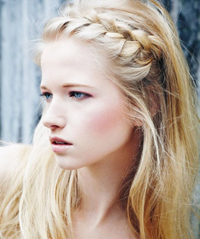 17 Ways To Make A Headband With Your Own Hair | Brit + Co For Current Double Headband Braided Hairstyles With Flowers (View 12 of 25)