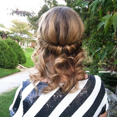 18 Elegant Hairstyles For Prom 2019 With Newest Rolled Half Updo Bob Braid Hairstyles (View 11 of 25)