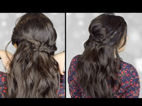 2 Easy Bohemian + Messy Hairstyles: Fishtail Braids + Loose Curls Pertaining To Current Messy Curly Mermaid Braid Hairstyles (View 20 of 25)