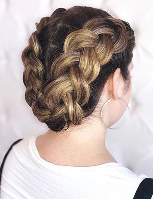 20 Beautiful Crown Braid Hairstyles In Most Current Double Crown Updo Braided Hairstyles (View 20 of 25)