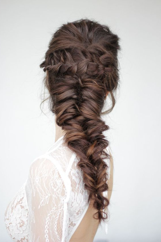 20 Braid Hairstyles For Your Weekend – Pretty Designs For Most Popular Mermaid Braid Hairstyles With A Fishtail (View 11 of 25)