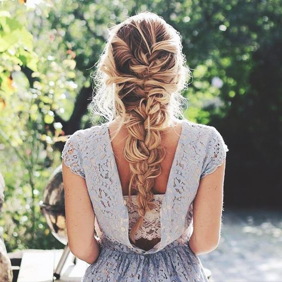 20 Braid Hairstyles For Your Weekend – Pretty Designs In Most Popular Messy Curly Mermaid Braid Hairstyles (View 8 of 25)