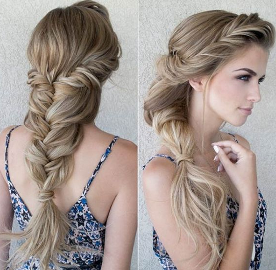 20 Braid Hairstyles For Your Weekend – Pretty Designs With Most Recently Messy Curly Mermaid Braid Hairstyles (View 9 of 25)