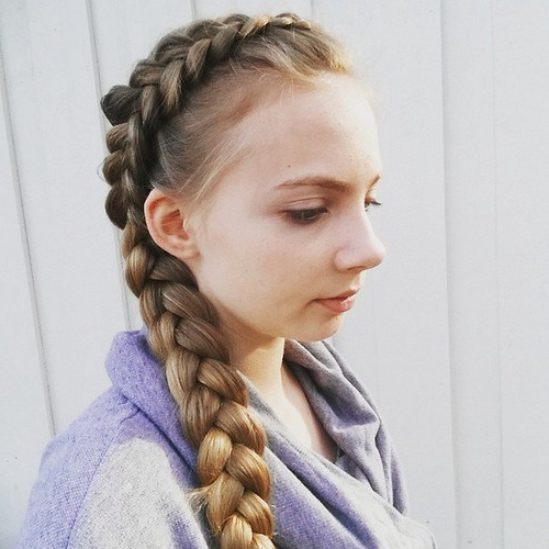 20 Cute Braided Hairstyles For Little Girls – Hairstyles Weekly With Regard To Most Recently Blonde Asymmetrical Pigtails Braid Hairstyles (View 3 of 25)