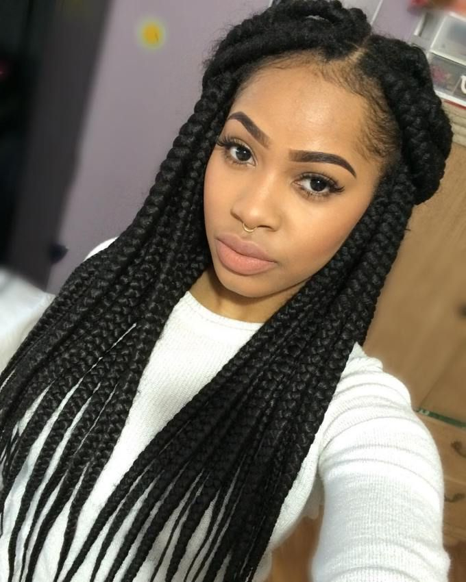 20 Eye Catching Ways To Style Dookie Braids | Hair Do | Long In Recent Half Up Box Bob Braid Hairstyles (View 11 of 25)