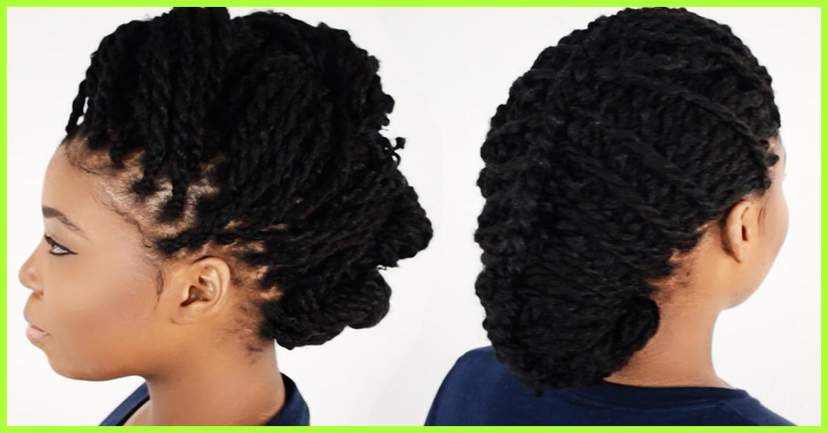 20 Irresistible Ways To Style Your Kinky Twists Within Most Current Loose Twist Hairstyles With Hair Wrap (View 8 of 25)