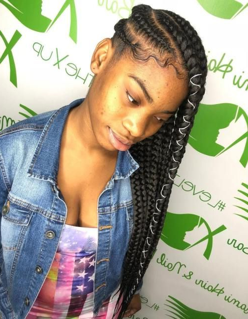20 Lemonade Braids Hairstyles #africanhair #blackwoman With Most Recently Wrap Around Triangular Braided Hairstyles (View 10 of 25)