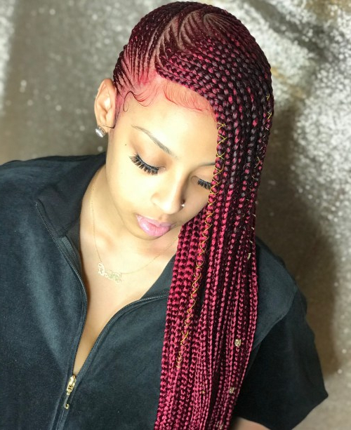 20 Lemonade Braids Hairstyles In Most Up To Date Diamond Goddess Lemonade Braided Hairstyles (View 19 of 25)