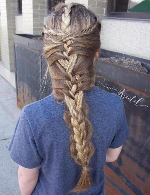 20 Mermaid Braid Hairstyles #braid #braided #hairstyles For Most Up To Date Braided Mermaid Mohawk Hairstyles (View 14 of 25)