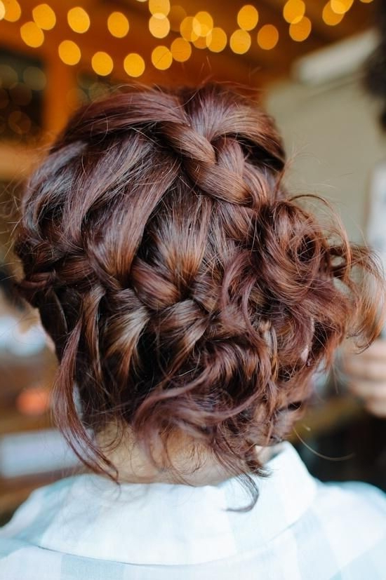 20 Pretty Braided Updo Hairstyles – Popular Haircuts Intended For Most Recent Messy Crown Braid Updo Hairstyles (View 10 of 25)
