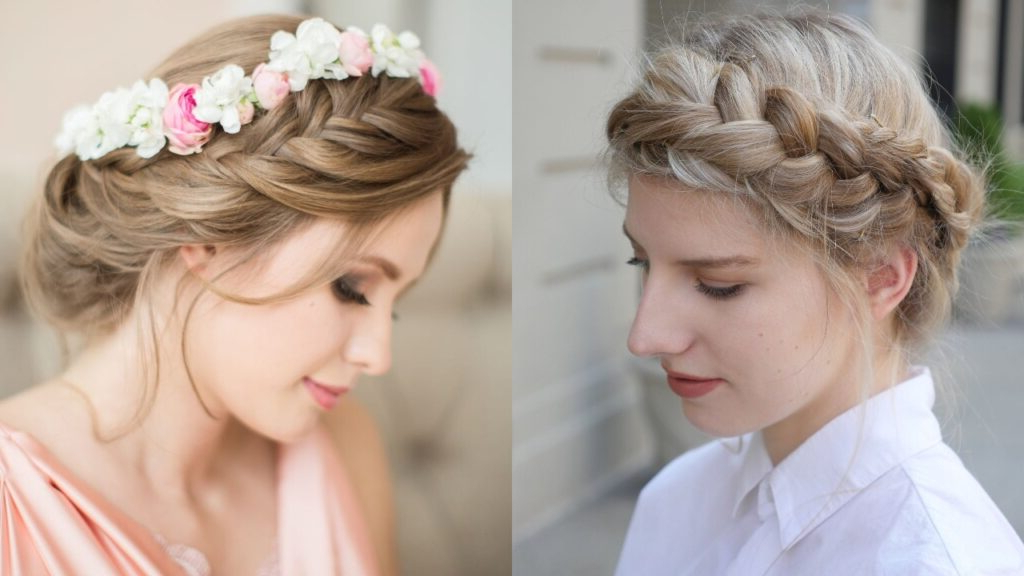 20 Royal And Charismatic Crown Braid Hairstyles – Haircuts In Most Popular Traditional Halo Braided Hairstyles With Flowers (View 13 of 25)