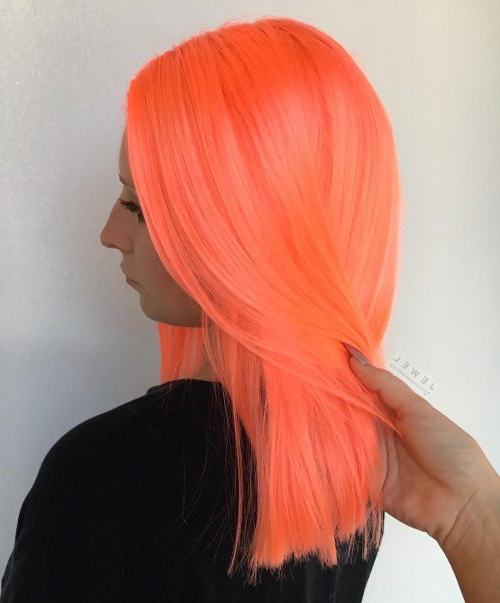 20 Stunning Orange Hair Color Examples In 2019 Inside Latest Red, Orange And Yellow Half Updo Hairstyles (View 8 of 25)