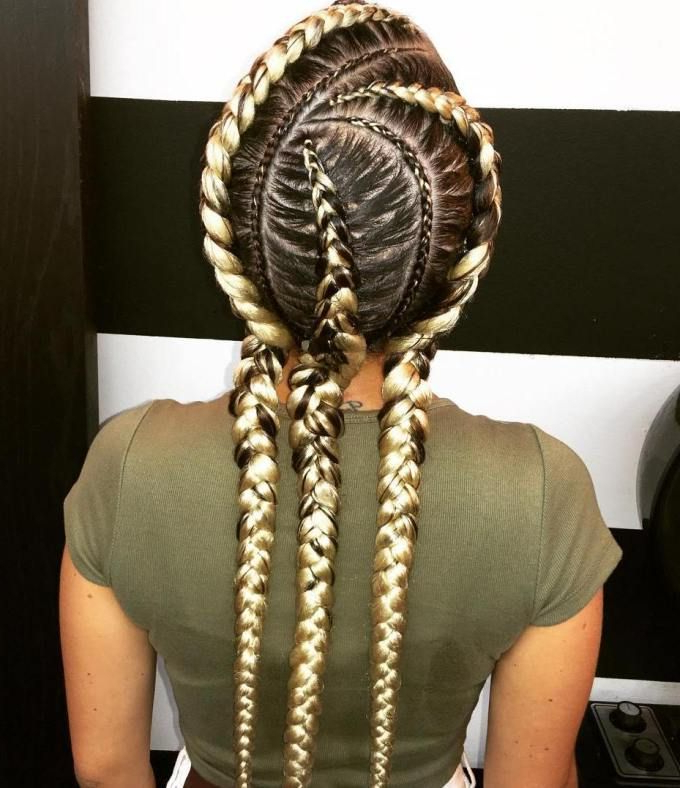 Featured Photo of Blonde Asymmetrical Pigtails Braid Hairstyles