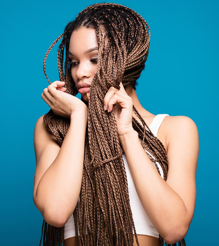 20 Uber Cool Ways To Style Your Micro Braids Inside 2018 Natural Protective Bun Micro Braid Hairstyles (View 17 of 25)