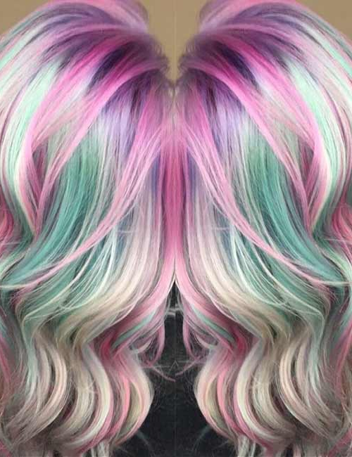 20 Yummy Cotton Candy Hair Color Ideas Inside Most Up To Date Cotton Candy Colors Blend Mermaid Braid Hairstyles (View 15 of 25)