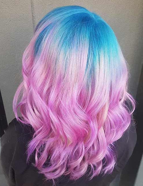 Featured Photo of Cotton Candy Colors Blend Mermaid Braid Hairstyles