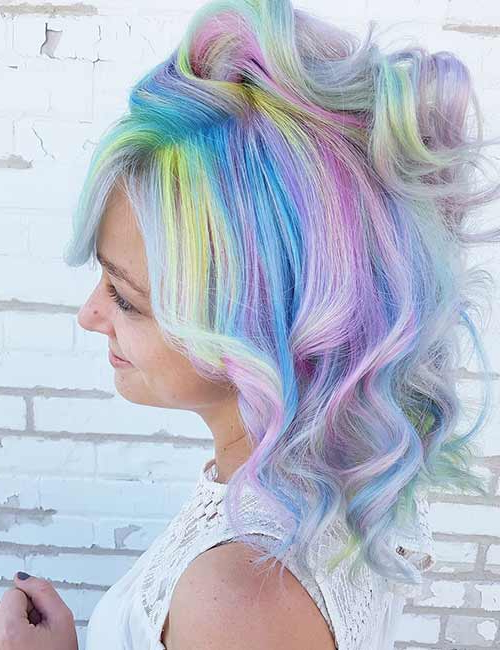 20 Yummy Cotton Candy Hair Color Ideas Throughout 2018 Cotton Candy Colors Blend Mermaid Braid Hairstyles (View 10 of 25)