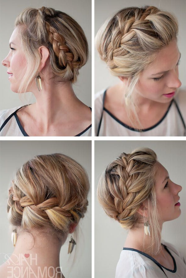 21 All New French Braid Updo Hairstyles – Popular Haircuts Pertaining To Newest Messy Crown Braid Updo Hairstyles (View 25 of 25)