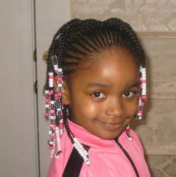 21 Attractive Little Girl Hairstyles With Beads – Hairstylecamp Throughout Most Recent Beaded Pigtails Braided Hairstyles (View 6 of 25)