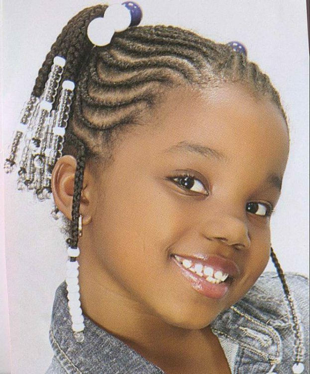 21 Attractive Little Girl Hairstyles With Beads – Hairstylecamp With Regard To 2018 Beaded Pigtails Braided Hairstyles (View 16 of 25)