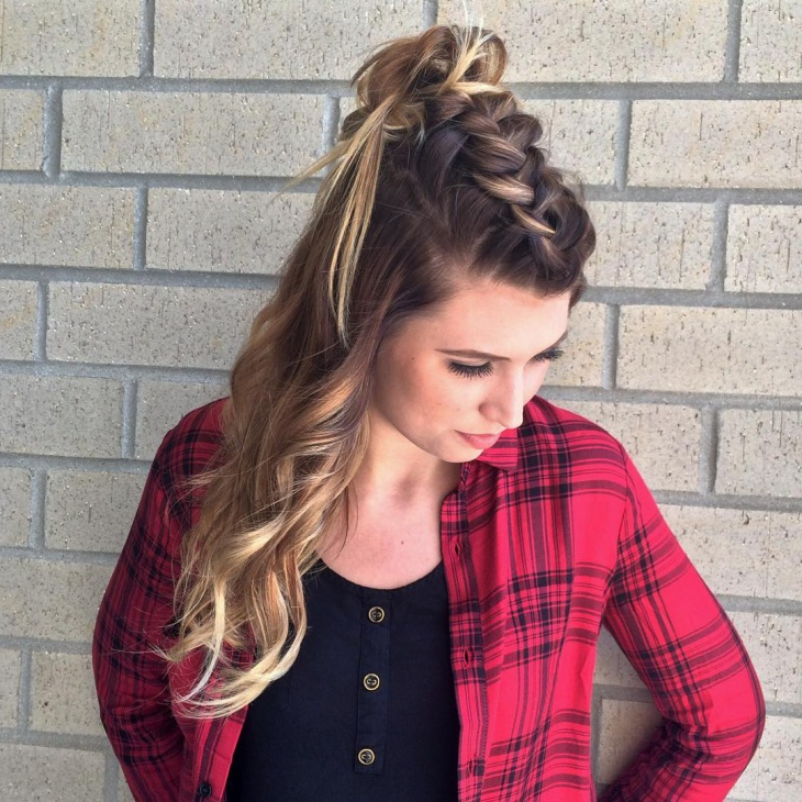 21+ Braid Top Knot Hairstyle Ideas, Designs | Haircut Throughout Most Current Topknot Ponytail Braided Hairstyles (View 22 of 25)