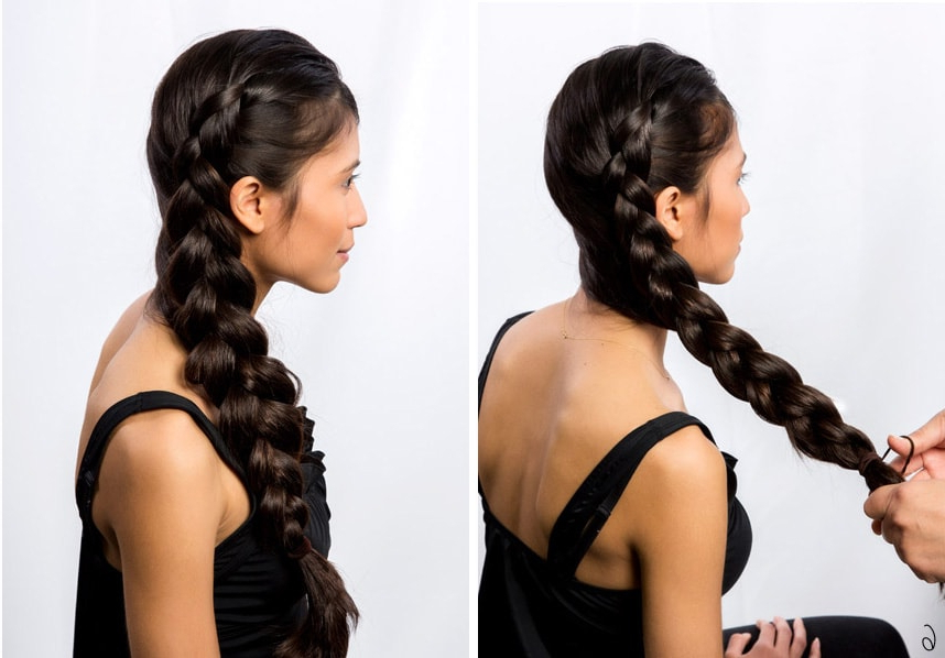 21 Braids For Long Hair With Stepstep Tutorials! Throughout Recent Thick And Thin Braided Hairstyles (View 23 of 25)