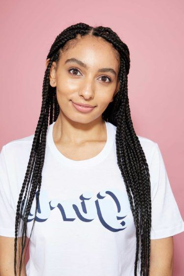 21 On Trend & Protective Long Box Braids Hairstyles | All In Latest Half Up Buns Yarn Braid Hairstyles (View 11 of 25)