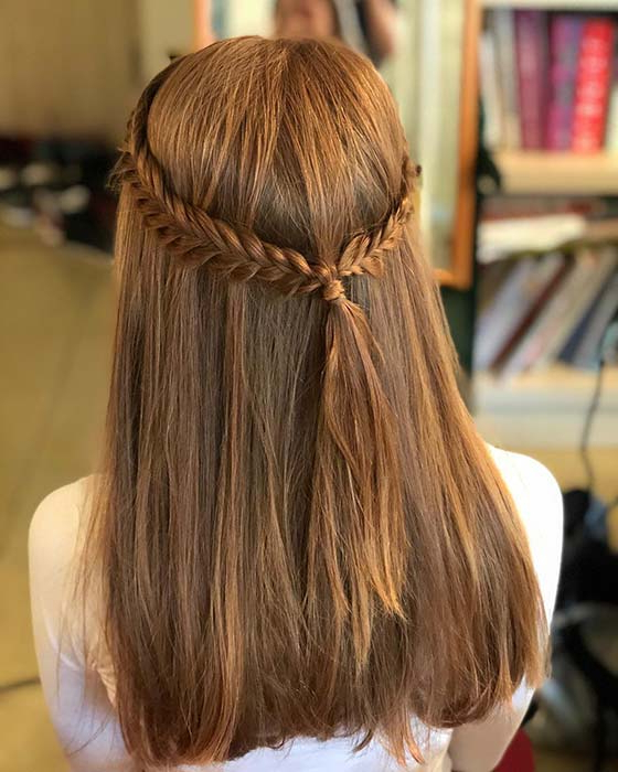 21 Pretty Half Up, Half Down Braid Hairstyles To Diy | Stayglam In Latest Half Up, Half Down Braid Hairstyles (View 14 of 25)
