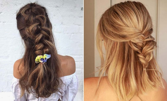 21 Pretty Half Up, Half Down Braid Hairstyles To Diy | Stayglam Within Most Recent Half Up Half Down Boho Braided Hairstyles (View 9 of 25)